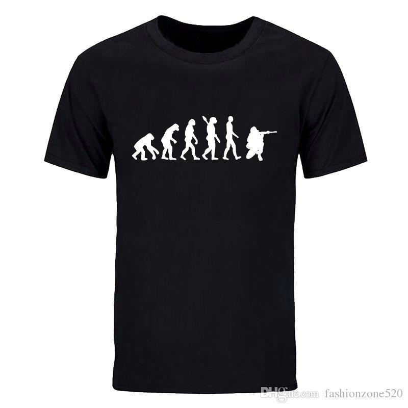 Nuova moda estate Soldier Evolution T Shirt Uomo manica corta in cotone Soldato Uomo casual T-shirt Tops Tees DIY-0647D