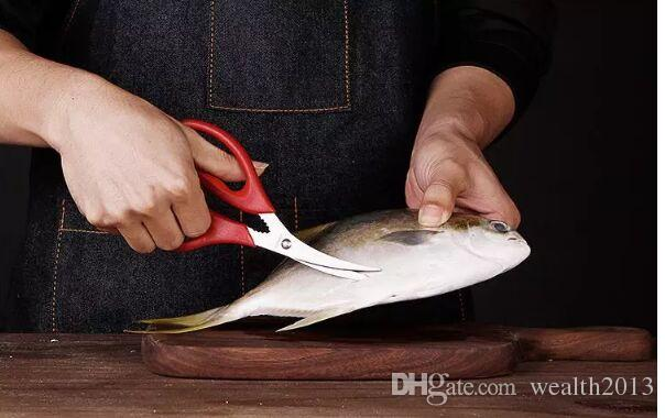 QiDian 크리 에이 티브 가정 용품 인기있는 랍스터 새우 게 해산물 가위 가위 싹둑 포탄 주방 도구 인기