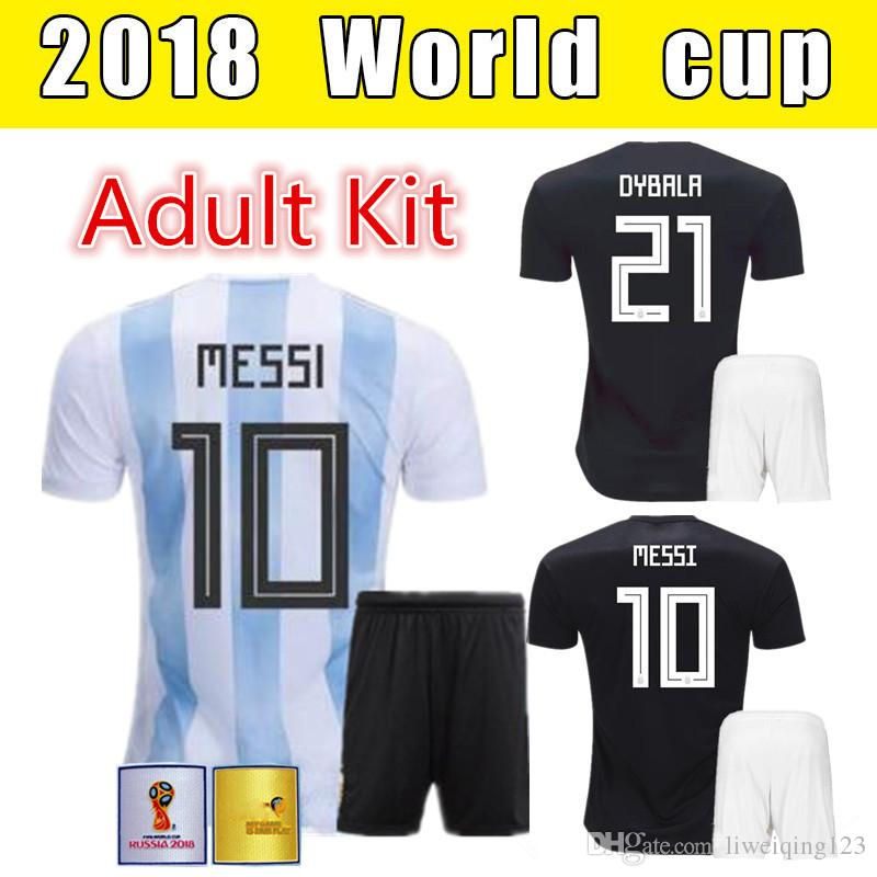 167a3cc59bb 2018 World Cup Argentine Jersey Soccer Jersey Adult Set 10 MESSI ...