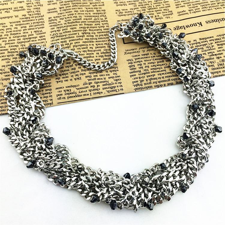 High Quality Fastness Alloy Fashion Necklace New Precious Costume Accessories Statement Necklaces Shourouk Necklaces & Pendants