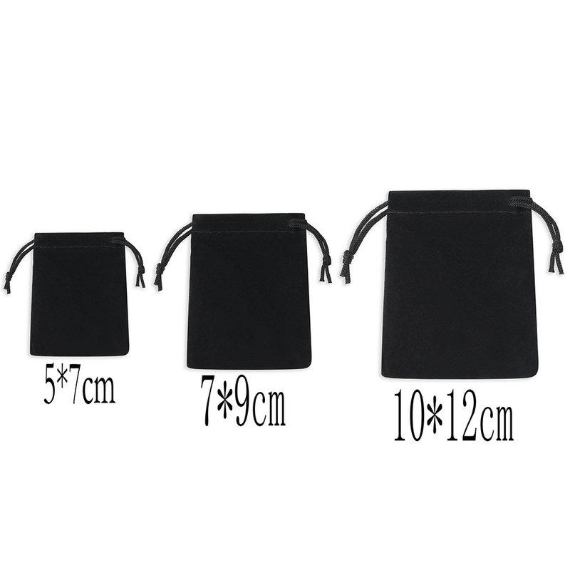 / Velvet Black 3 Sizes Jewelery Gift Bags Brace Strap Pouches Wholesale10*12cm 7*9cm 5*7cm B-057-1