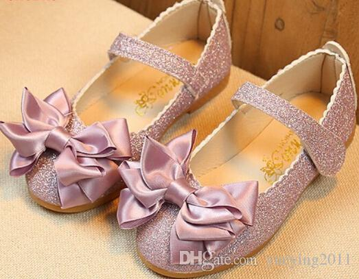 da879b08408a8 Children Princess Sandals Elegant Kids Girls Wedding Shoes Gold ...