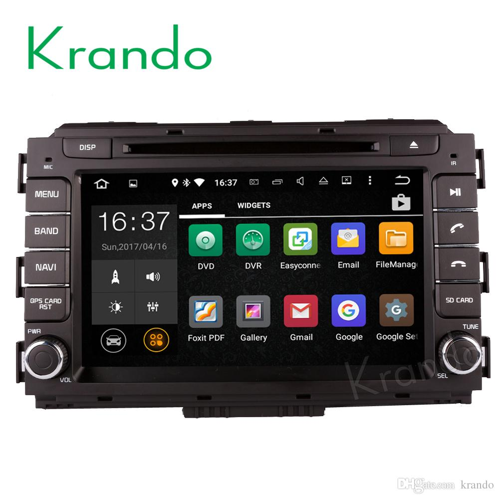 "Krando Android 8.0 8"" car dvd navigation system for kia carnival 2015 2016 2017 radio gps dvd player multimedia WIFI 3G Playstore"