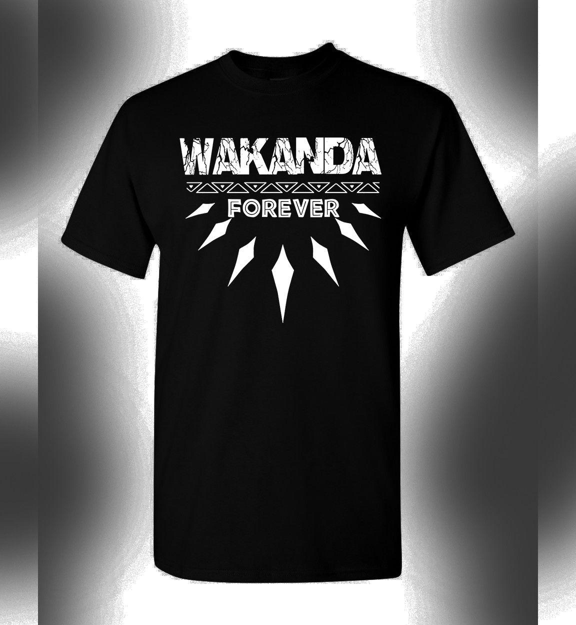 c2b85dbce0 Compre T Shirt Da Pantera Negra Wakanda Forever King T Challa Avengers De  Wholesaletshirts47