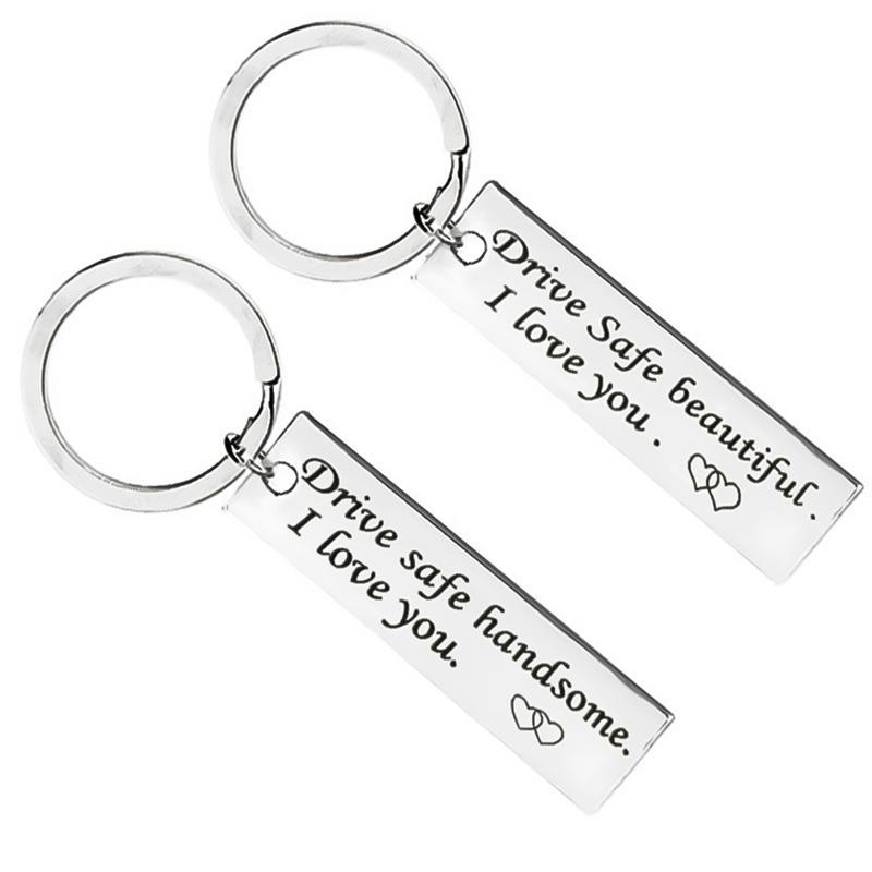 Custom Fashion Keyring Gifts Engraved Drive Safe Keychain Couples Boyfriend  Girlfriend Jewelry Key Chain Photo Keyrings Keycord From Wanyar e7f6f66cb831