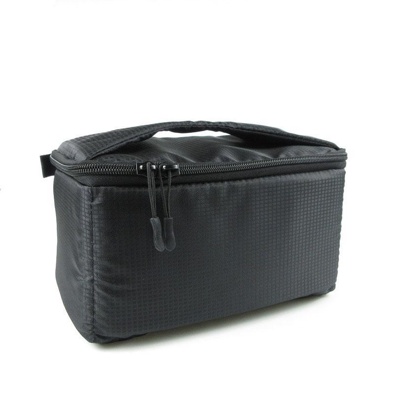 2019 DSLR Partition Padded Camera Bag Insert Case Divider Waterproof Built  In Insert SLR Camera Bag Portable Nylon Black Gym Bags From Raisins 526266fbf9cd5