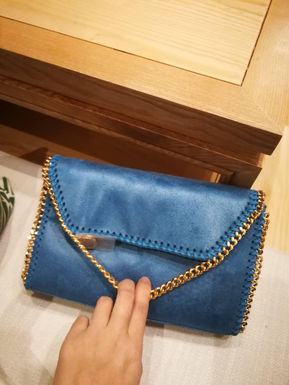 2018ss High top shoulder diagonal Mccartney chain bag new list ST original material pvc clutch fashion cross body bag