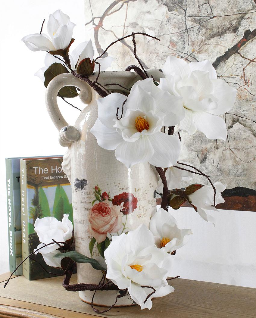 Wholesale 185cm artificial azaleas magnolia with branch white wholesale 185cm artificial azaleas magnolia with branch white cuckoos long stem arbitrary bending new silk flower silk flowers magnolia artificial mightylinksfo Images