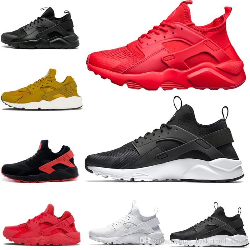 936942b12cdf7 Hot Sale Huarache 1.0 4.0 Triple White Black Oreo Red Grey Men Women Sports Trainers  Shoes Sneakers Size US 5.5 11 Hoka Running Shoes Shoes On Sale From ...