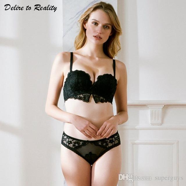 a4d0d72b92122c 2019 Women Sexy Lace Bra Brief Sets Push Up Brassiere Underwire Adjustable  Lingerie Floral Bralette Elegent Ladies Underwear 12318 From Superguys
