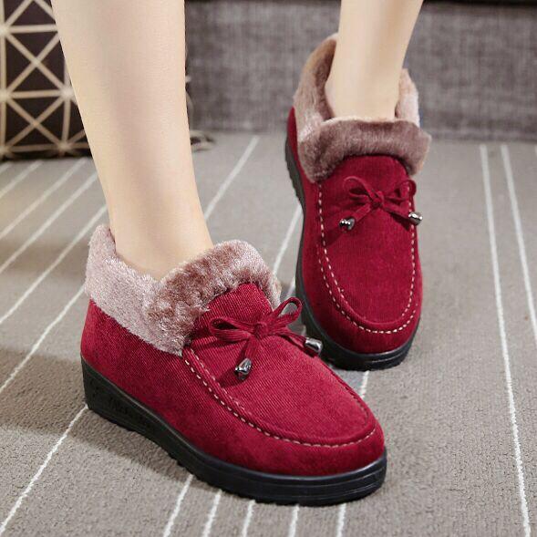 De Invierno Cálido Para Algodón Compre Zapatos Botas Planos Mujer 4wTHTU6nq