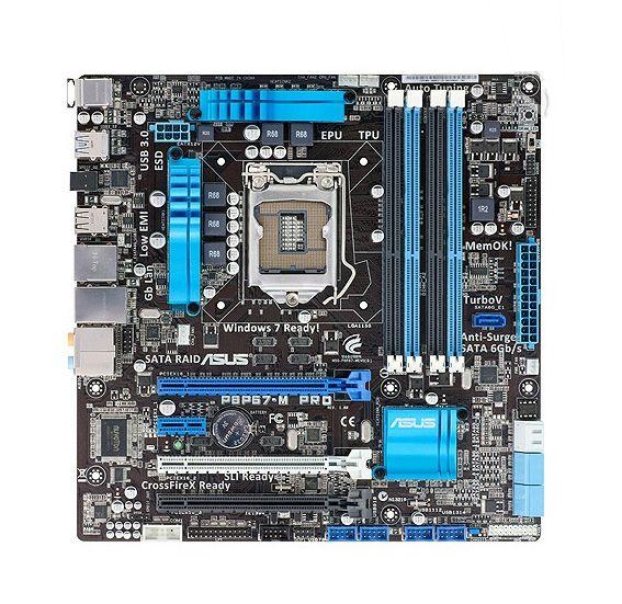 For Asus P8P67-M PRO Intel Motherboard LGA 1155 P67 Chipset SATA 6Gb/s USB 3.0 Micro u-ATX i3 i5 i7 DDR3 32Gb Systemboard