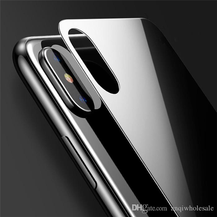 .For Iphone X 0.3mm 9H Ultra Thin Back Tempered Glass Back Screen Protector For Iphone 5s 5 6s 6 7 plus without retail Package