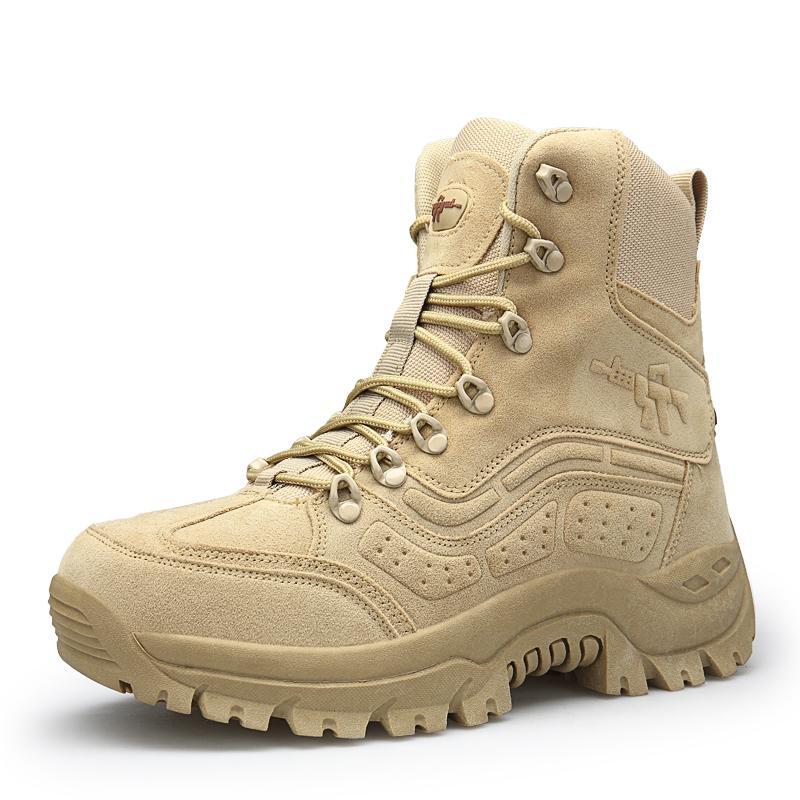 Acquista Stivali Da Uomo Invernali Stivali Da Lavoro Militari Di Qualità  Speciale Force Tactical Desert Combat Scarpe Da Lavoro Militari Mantengono  Caldi ... 58301f373ad