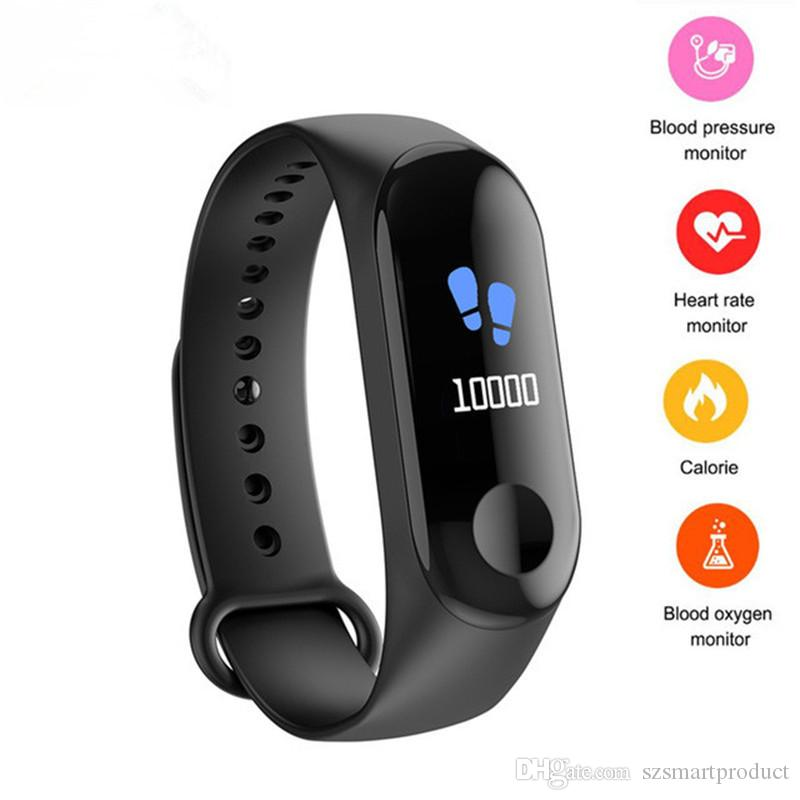 M3C Bluetooth Bracelet Heart Rate Blood Pressure Monitor Push Message Waterproof Smart Wristband Band vs Band 3
