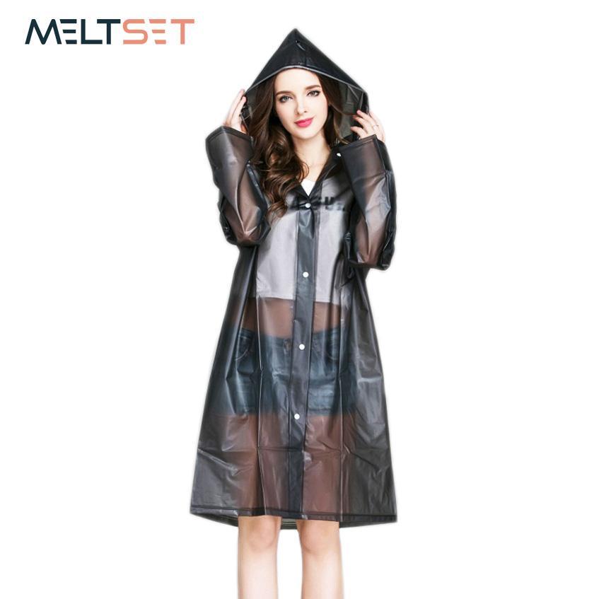 5b5f3590ccb 2019 Women Rain Coat Plus Size Long Raincoat Transparent Bicycle Motorcycle  Rainwear Waterproof Trench Coat Hiking Rain Gear Poncho From Adeir