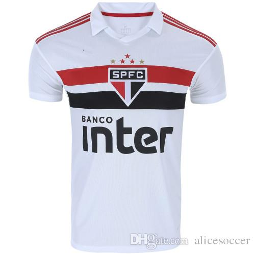 Wholesale Soccer Jersey Sao Paulo White Home Fans Custom Name Number  Top Quality Soccer Uniform Football Jersey Clothing Sponsor UK 2019 From ... e1d2138207c3