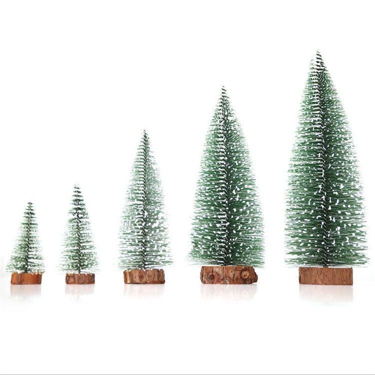 hot mini christmas tree snowflakes artificial christmas mini cedar ornaments festival table miniature ornament home decoration toys donations for christmas