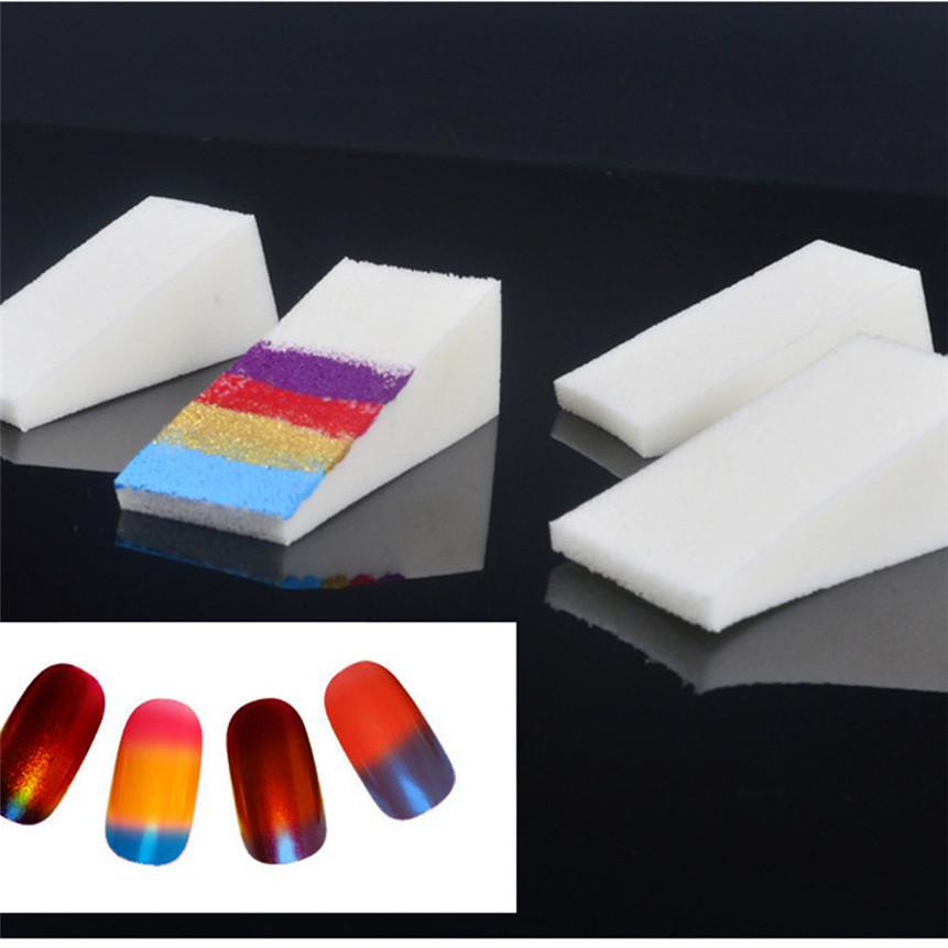 Gradient Nail Sponges Nail Buffer Files Color Change Gel DIY ...