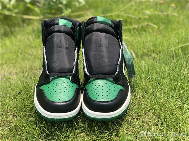 73691e00e2f3 2019 2018 Hot Release High OG 1 Pine Green 1s Court Purple 1s Man  Basketball Shoes Authentic Sports Sneakers With Original Box 555088 302 From  China5