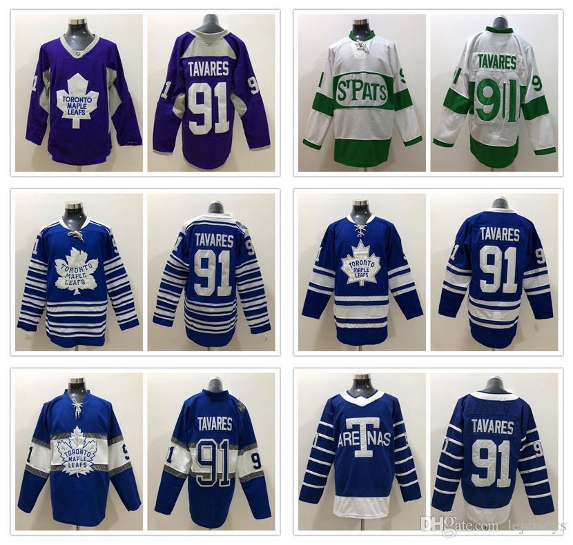 ... where to buy 2019 toronto maple leafs jerseys 91 john tavares hockey  jerseys white green blue ee2f0e611