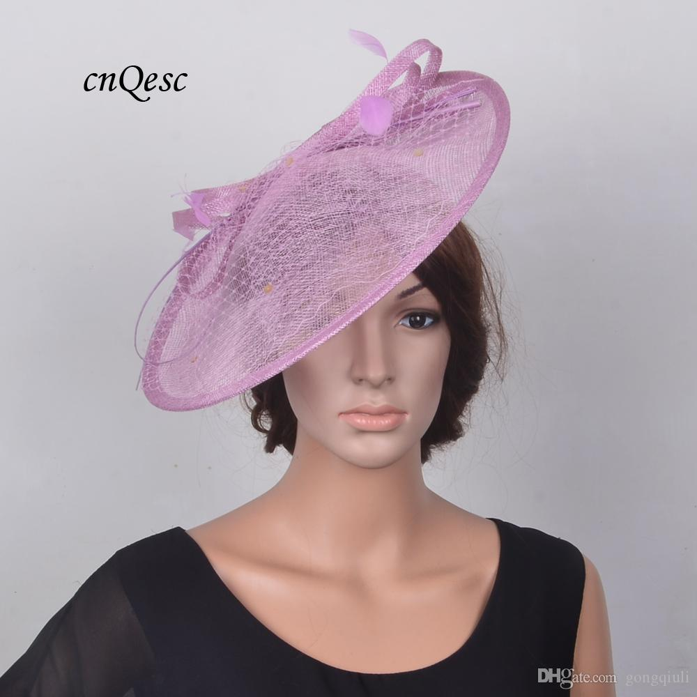 Lilac Purple Ladies Hat Saucer Fascinator Sinamay Fascinator Formal Hat For  Races Wedding Mother S Day Derby Red Wedding Hats Silver Wedding Hats From  ... 4108195128c3