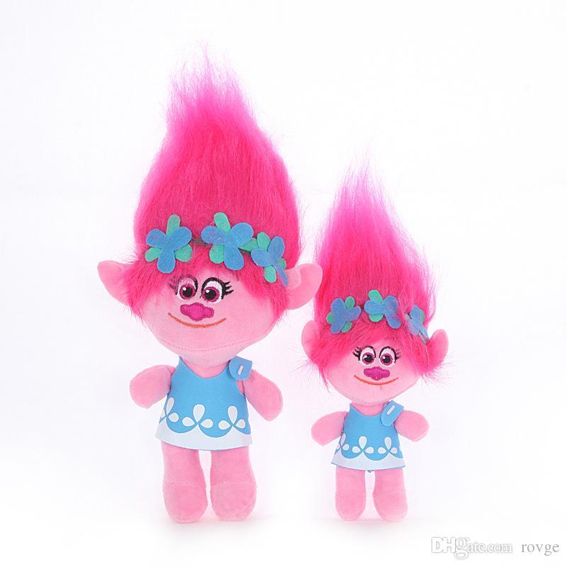 2018 New Magic Hair Bobi Bulanqi Trolls Plush Toys The Colored Hair