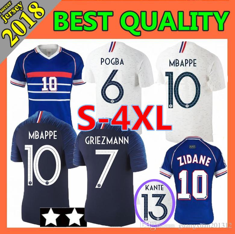 4b5a4e713 916f6 e36ad  low price 2 stars 2018 mbappe soccer jerseys home away 1998  zidane 18 19 world cup