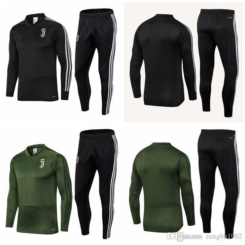 Thai 18 19 Juventus soccer Tracksuit MARCHISIO RONALDO Track suits jacket 2018 2019 DYBALA HIGUAIN chandal training suits sports wear