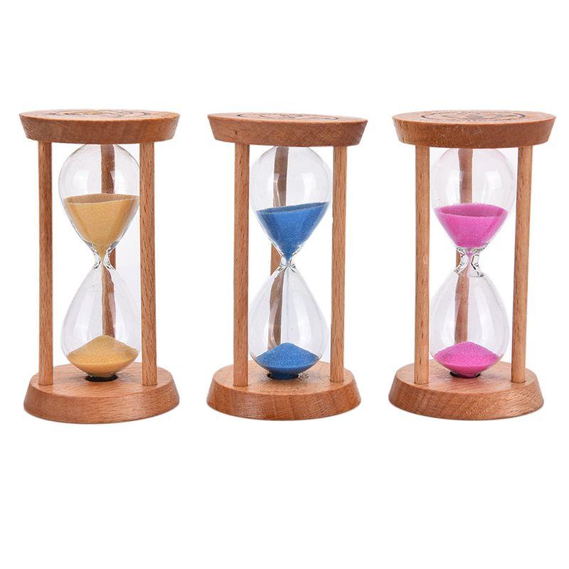 Discount Home Kitchen Timer Clock 3 Mins Wooden Frame Sandglass Sand ...