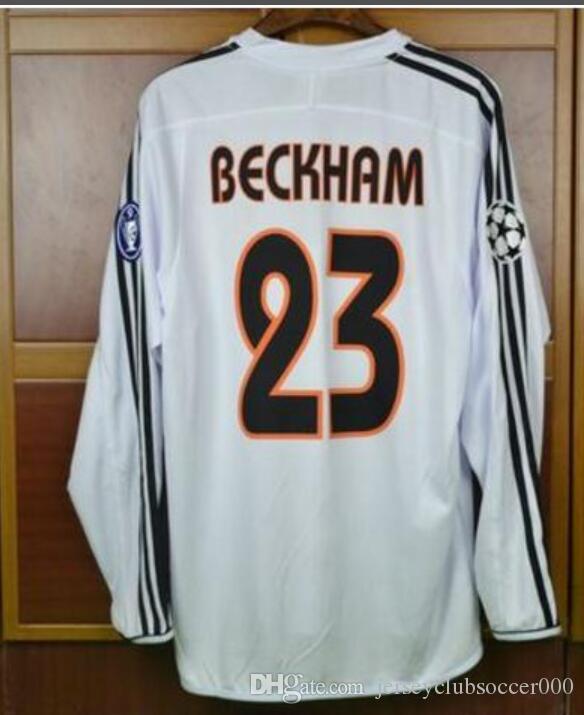 low priced 41bcc 316e0 2003 2004 real madrid jersey retro 03 04 ZIDANE BECKHAM RONALDO CARLOS RAUL  camisetas futbol maillot de foot football shirt
