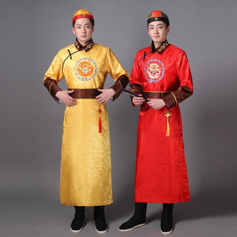 Acquista Costume Tradizionale Cinese Maschile Abito Lungo Abito Della  Dinastia Tang Gli Uomini Del Palcoscenico Antico Principe Hanfu  Abbigliamento Popolare ... 94dc8a7e598