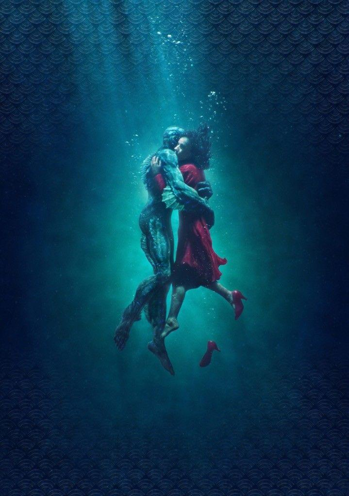 THE SHAPE OF WATER Movie POSTER Film Art Guillermo del Toro Art Sil Poster 20x30 24x36 24x43