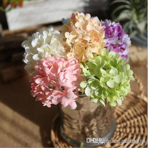 Discount hydrangea silk flowers available diy artificial flower discount hydrangea silk flowers available diy artificial flower components for wedding party centerpieces home holiday decoration 07354 from china dhgate mightylinksfo