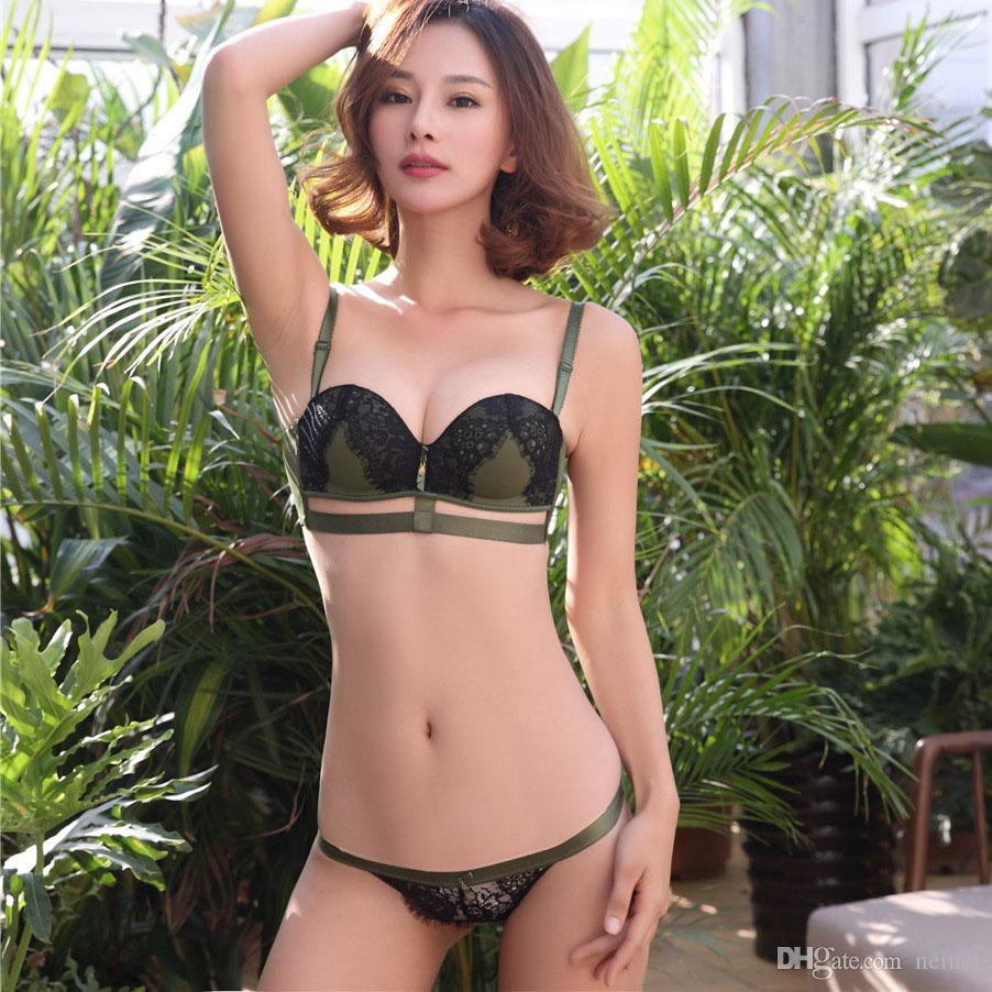 aa4d8e9400cf8 2019 Sexy Hollow Out Lash Young Girls Intimates One Piece Thicken ...