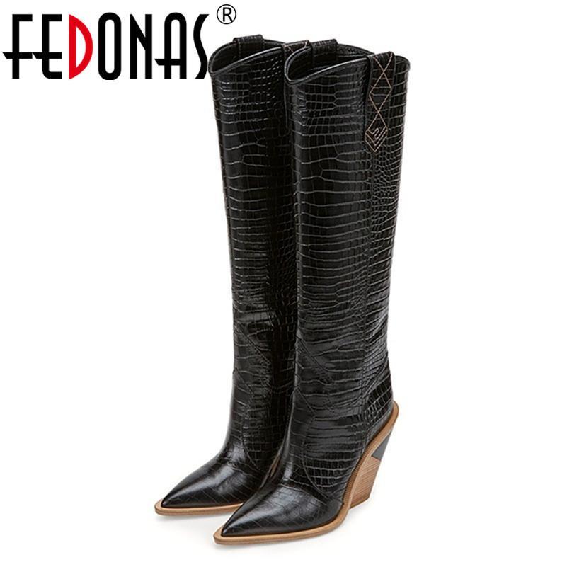 Acquista Con Da Stivali In Pelle Impressi Fedonas Microfibra Donna drtQhs