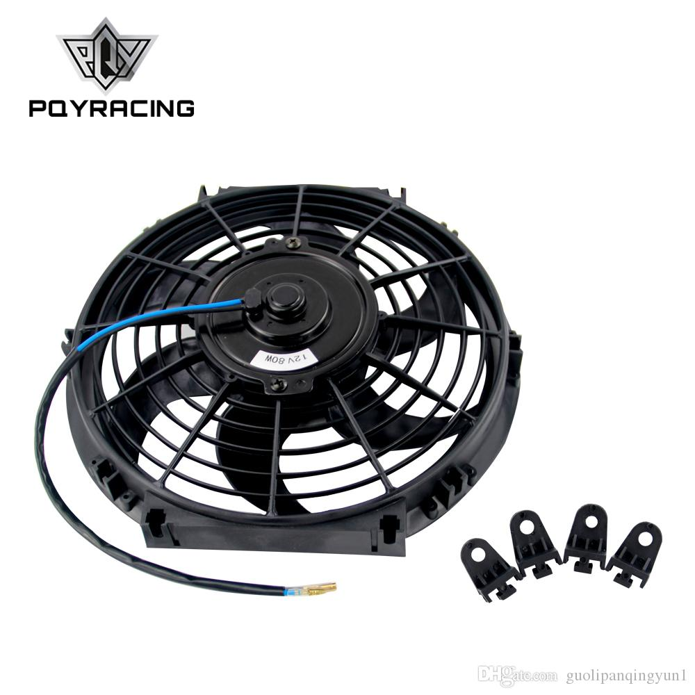Pqy 10 Inch Universal 12v 80w Slim Reversible Electric Radiator Mount Bmw E46 Fuel Filter Replacement Cooling Fan Auto Push Pull With Mounting Kit Type S 10pqy Fan10