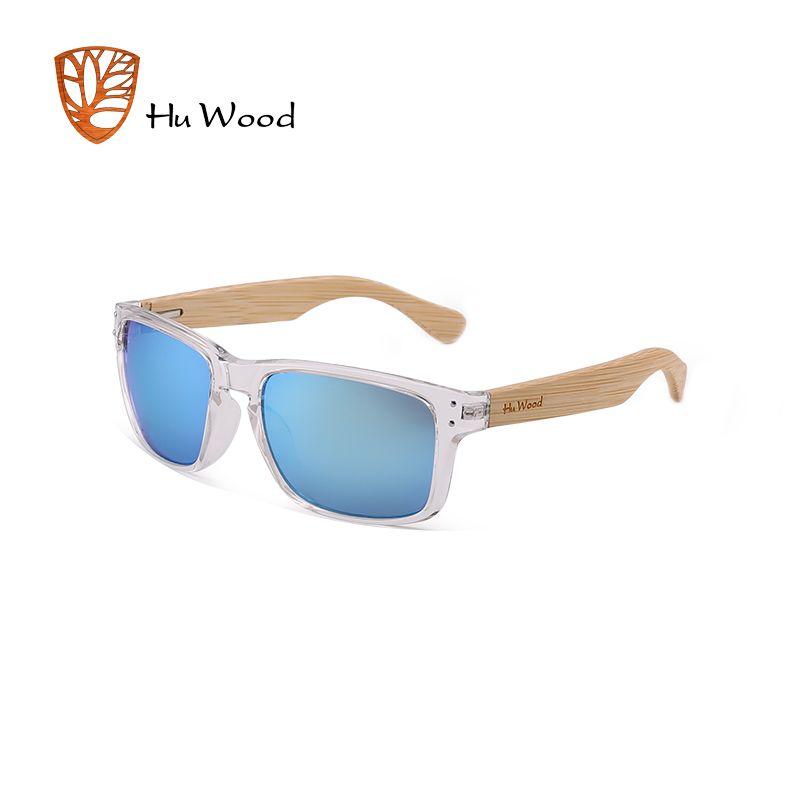 9113217c380 HU WOOD Natural Bamboo Wooden Sunglasses Handmade Polarized Mirror Coating  Lenses Eyewear Sport Goggle Mirror Sun Glasses GR8009 Womens Sunglasses ...