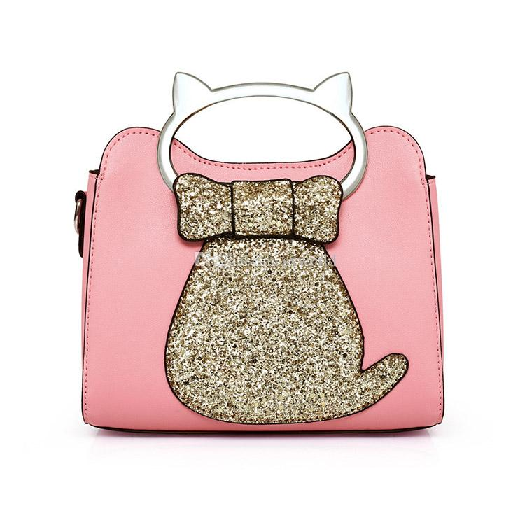 f93b3a44870e Pink Fashion Casual Sequins Cat Small Square Leather Ladies Bags Handbag  Shoulder Ladies Bags Handbag Shoulder Online with  16.58 Piece on Sxworld s  Store ...