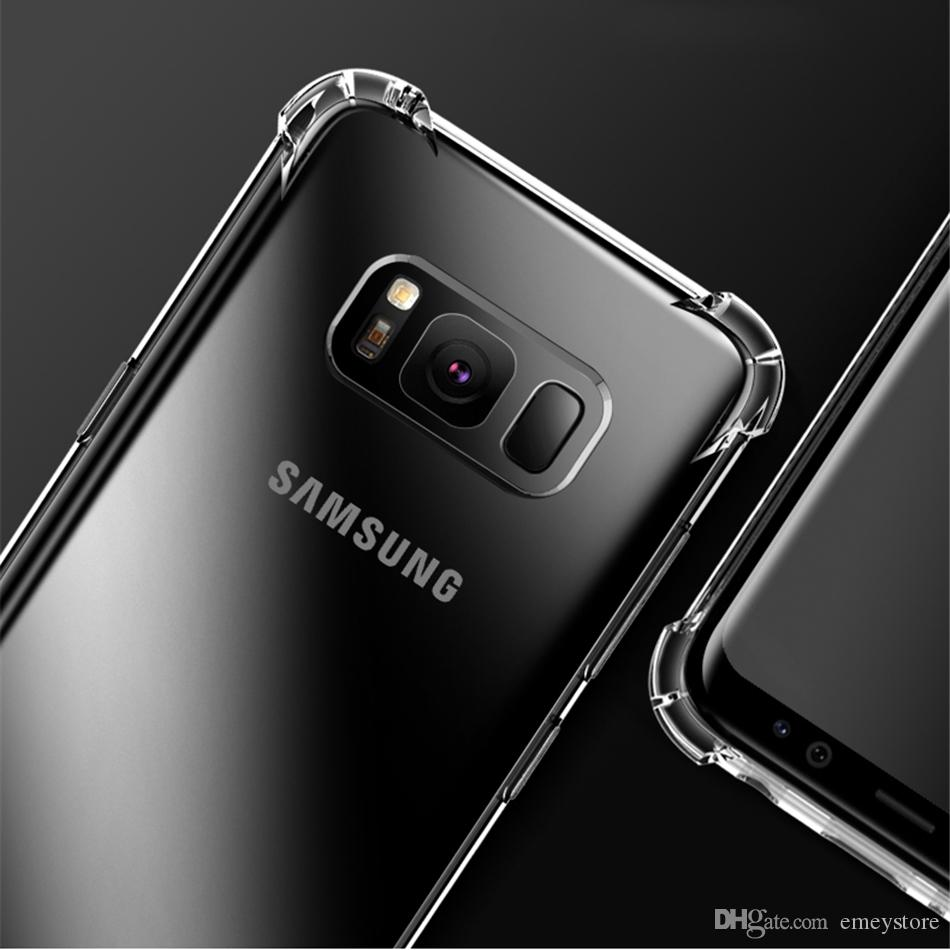 For Samsung s10 S9 S8 Plus Note 8 note 9 note10 A7 A8 J7 Air Cushion Case Crystal TPU Bumper Gel Cover iphone11 pro xs max xr x 6 8 7