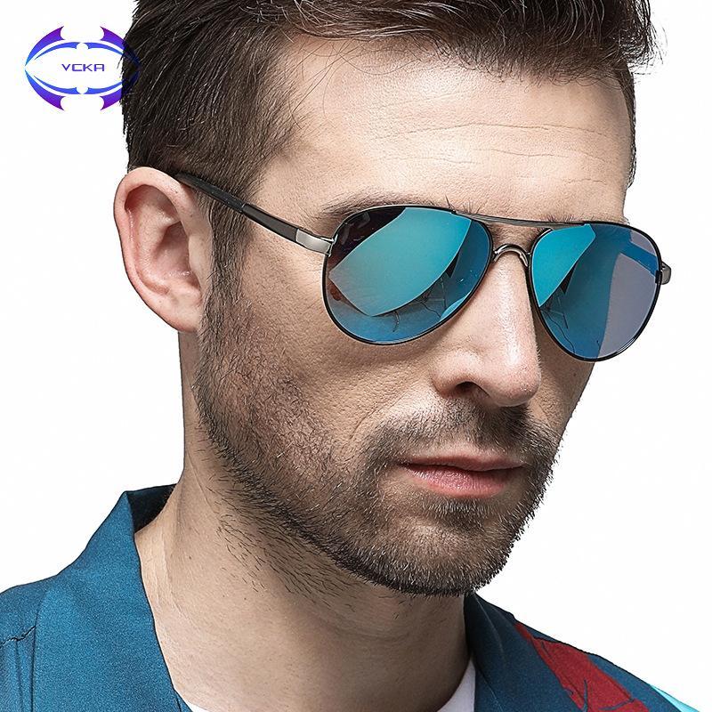 b115624410 Compre VCKA Clásico Hombres Gafas De Sol Polarizadas Polaroid Conducción De  Aviación Gafas De Sol Hombre Gafas De Sol UV400 Mujeres Marca De Alta  Calidad A ...