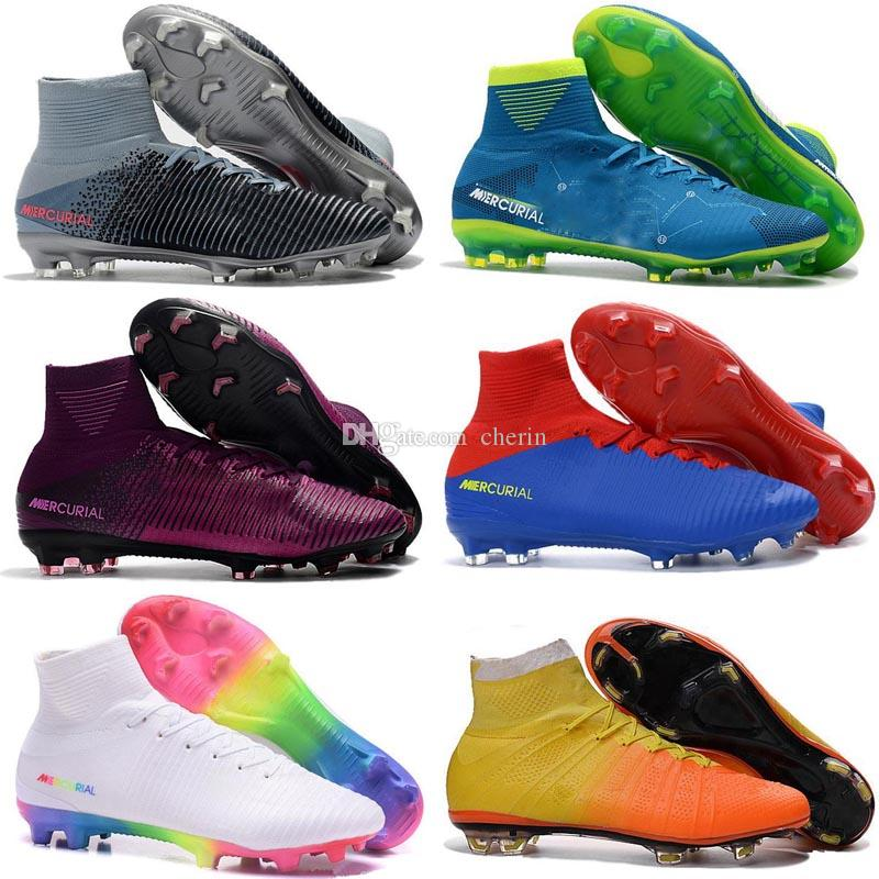 cheap sale shopping online buy cheap best place Top Quality 2018 Men Mercurial Superfly CR7 V FG AG Football Boots Cristiano Ronaldo High Tops Neymar ACC Soccer Shoes Soccer Cleats cheap footlocker pictures Inexpensive for sale eMT8D