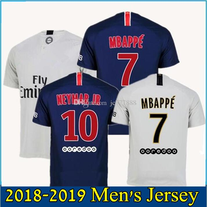 2019 18 19 Mbappe Soccer Jersey 2018 2019 CAVANI PASTORE DRAXLER Away Paris  Football Shirts Survetement Maillot De Foot Customize From Jc777888 681e4753e