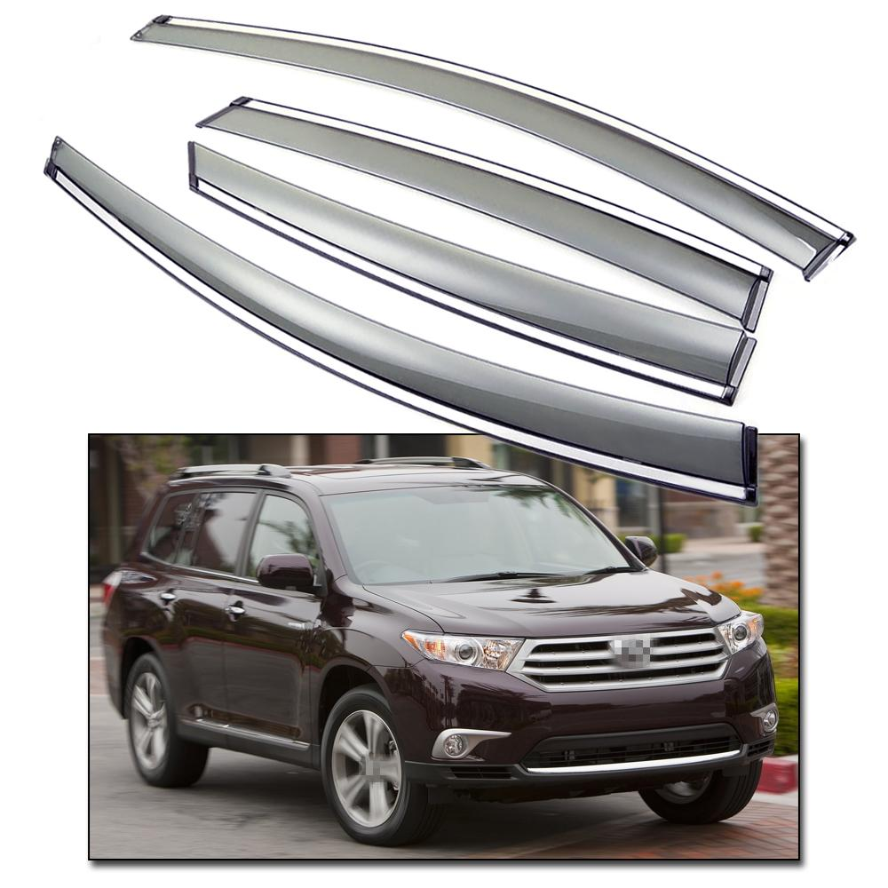 2019 New Window Deflectors Visor Vent Shade Fit For Toyota Highlander 2008  2013 09 10 11 12 From Icar club fee9b466baa