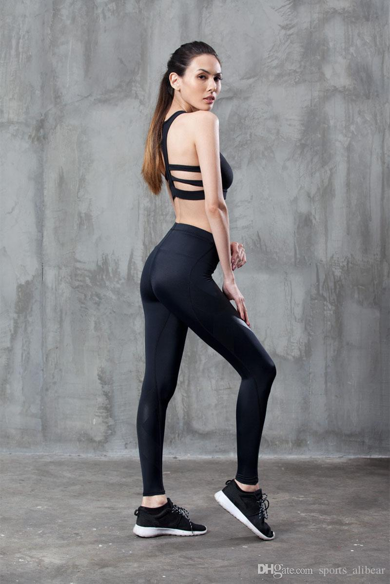 DropShipping Sports Running Leggings Gym Jogging Trousers Yoga Pants Side  Stripe Pants Sexy Hip Hop Push Up Pants Fitness Clothing