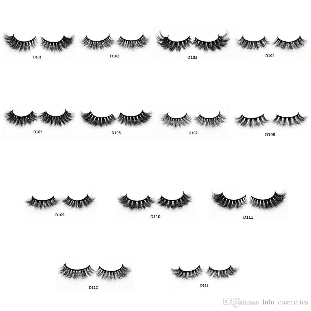 Pestaña Mink 3D Messy Cross Grueso Natural Fake Eye Lashes Maquillaje profesional Bigeye Eye Lashes Handmade 1 par con caja personalizada
