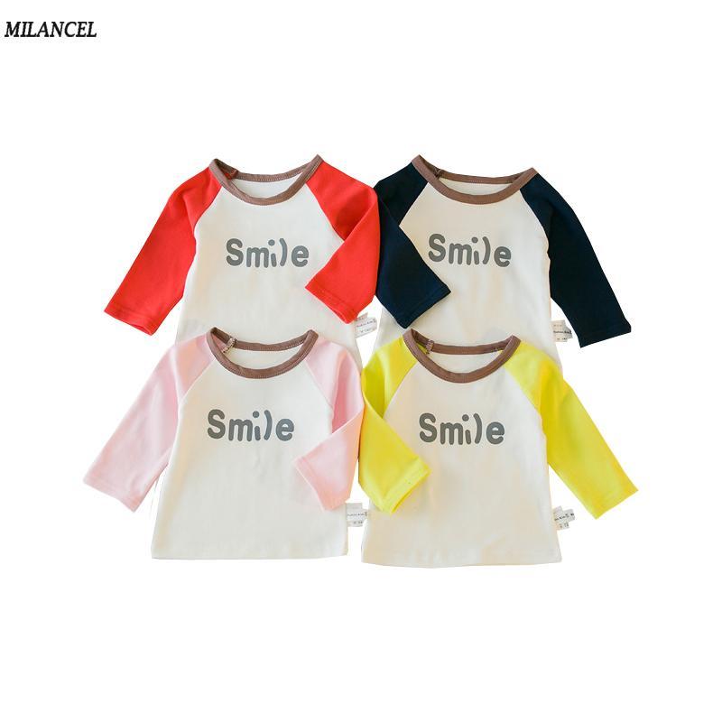 2018 Baby Blouse Cotton Kids Girls Base Shirt Simple Style Boys ...