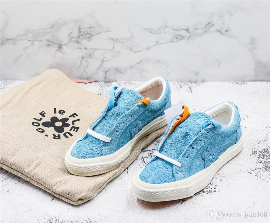 6c37a4e39d75 One Star Ox Tyler The Creator Golf Le Fleur Solar Power White Onestar  Glfleflrslrpwr 160323c Bachelor Blue Suede Casual Sneaker For Womens Mens  Shoes Online ...