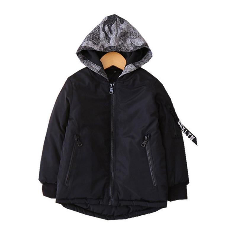 4a39b4791 Kids Camouflage Hoodies Jackets Cotton Padded Thickening Windbreaker ...
