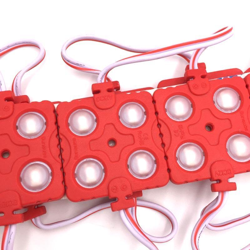 5730/5630 4LED 주입 LED 모듈 12V 방수 IP65 화이트 / 따뜻한 화이트 / 레드 / 블루 / 그린 led 모듈